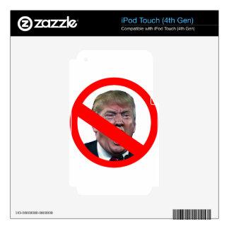 TRUMP FREE: Make America Trump Free Again! iPod Touch 4G Decal