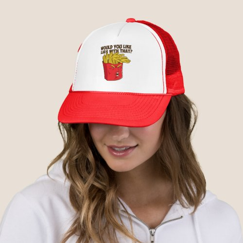 Trump Fries Funny Trump Trucker Hat