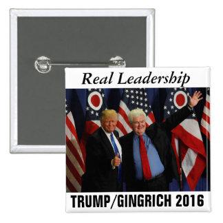 Trump/Gingrich 2016 Pinback Button
