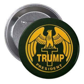 Trump Gold Eagle Pinback Button