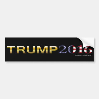 Trump Golden Patriot 2016 bumper sticker (dark)