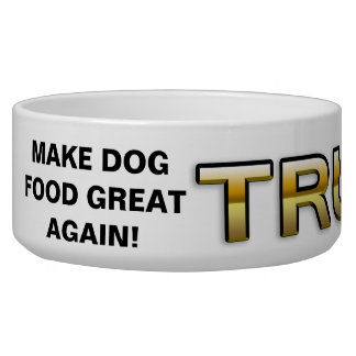Trump Golden Patriot 2016 dog bowl