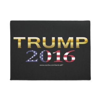 Trump Golden Patriot 2016 door mat (dark)