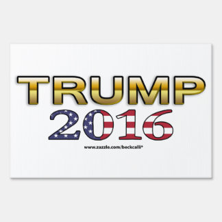 Trump Golden Patriot 2016 yard sign