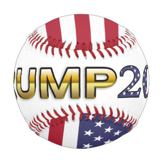 Trump Golden Patriot and Flag 2016 baseball