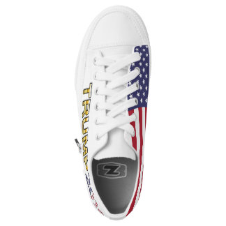 Trump Golden Patriot and Flag 2016 low top shoes