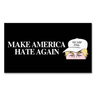 Trump Hat - Make America Hate Again - - .png Business Card Magnet