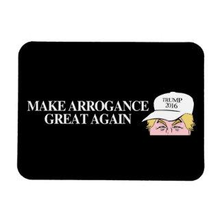 Trump Hat - Make Arrogance Great Again - - .png Magnet