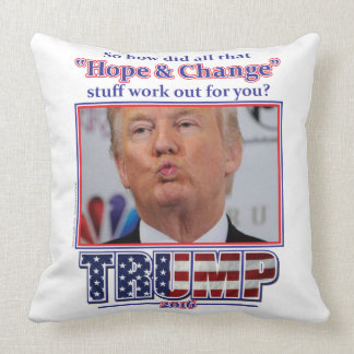 Trump-Hope-and-Change Throw Pillow