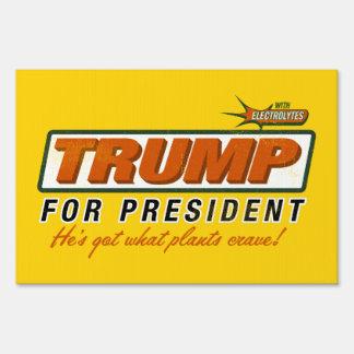 Trump Idiocracy Liberty Maniacs Yard Sign