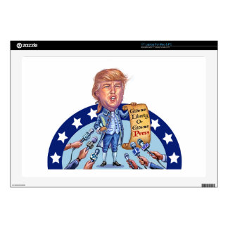 """Trump in all his glory decal for 17"""" laptop"""