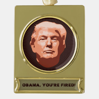 Trump Inauguration 2017 Gold Plated Banner Ornament