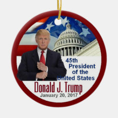 Trump Inauguration Ceramic Ornament at Zazzle