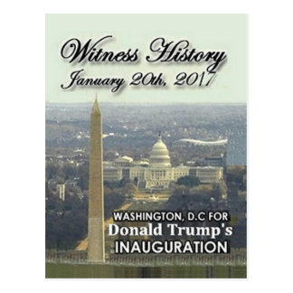 TRUMP Inauguration postcard