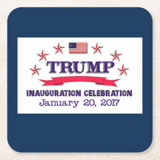 Trump Inauguration Square Paper Coaster