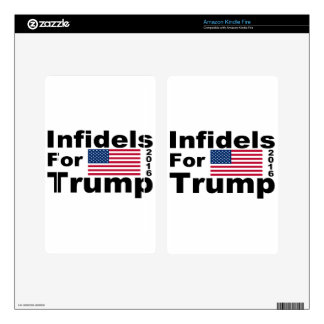 Trump infidels skins for kindle fire