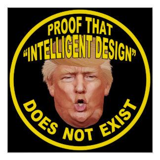 "Trump: ""Intelligent Design"" Protest Poster"