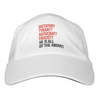 Trump is a dictator tyrant autocrat fascist - headsweats hat