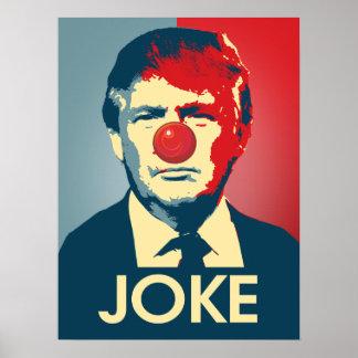 Trump is a Joke - Anti-Trump Propaganda Poster