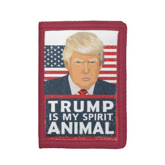 Trump is My Spirit Animal Funny Trifold Wallet