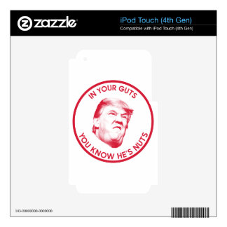 Trump is nuts President 2016 Inaugural Skins For iPod Touch 4G