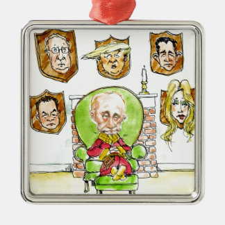 Trump Is Putin On The Ritz Gifts Metal Ornament