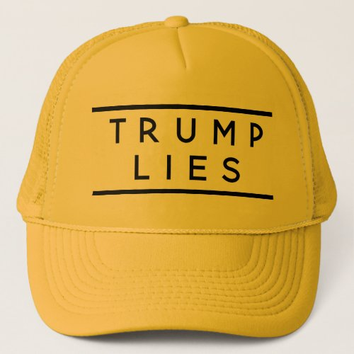 Trump Lies trucker Trucker Hat