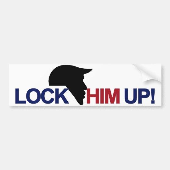 Trump Lock Him Up Bumper Sticker Zazzle Com