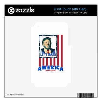 trump love design iPod touch 4G skin