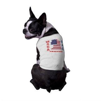 Trump Maga Kag Dog Tshirt