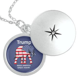 Trump Make America Great Again! Round Locket Necklace