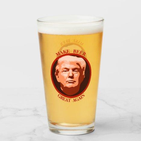 Trump Make Beer Great Again Glass