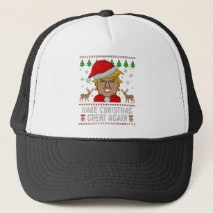 d18b7440c6e23 Trump Make Christmas Great Again Ugly Sweater Trucker Hat