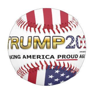 Trump Making America Proud Again w/ Flag baseball
