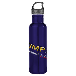 Trump Making America Proud Again water bottle (dk)