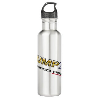 Trump Making America Proud Again water bottle (lt)