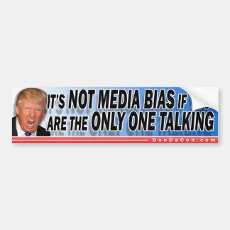 Trump Media Bias Bumper Sticker