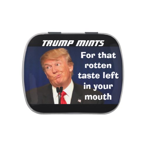 Trump Mints For that bad taste left in your mouth Jelly Belly Tin