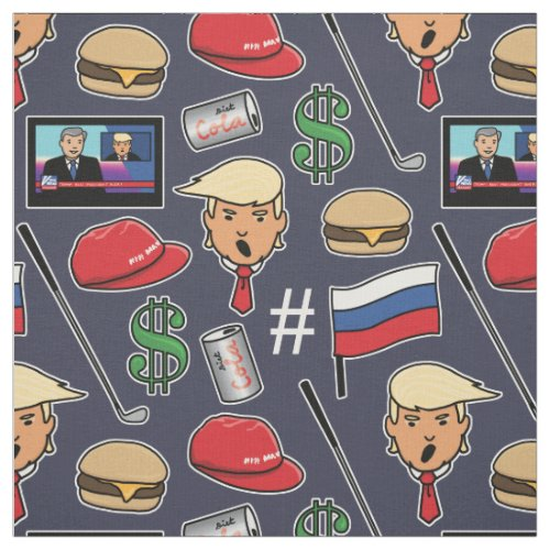 Trump Money Burgers Golf Russia and Fake News Fabric