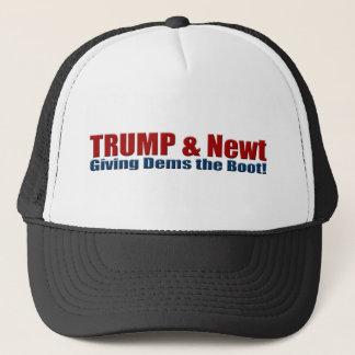 Trump & Newt Giving Dems the Boot! Trucker Hat