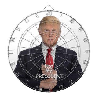 TRUMP Not My President Dartboard With Darts