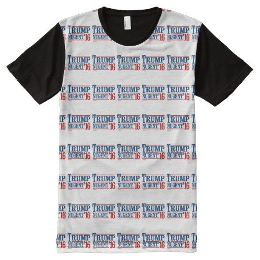 Trump Nugent 2016 All-Over Print T-shirt T-Shirt, Hoodie, Sweatshirt