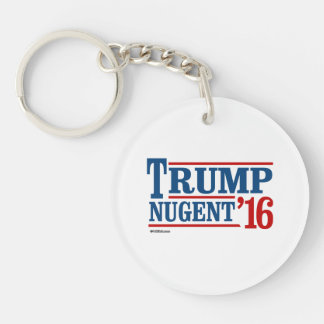 Trump Nugent 2016 Double-Sided Round Acrylic Keychain