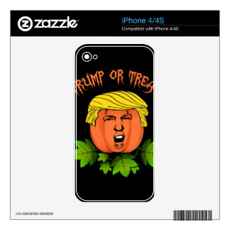 Trump or treat skin for iPhone 4