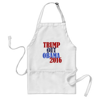 Trump Out Obama 2016 Adult Apron