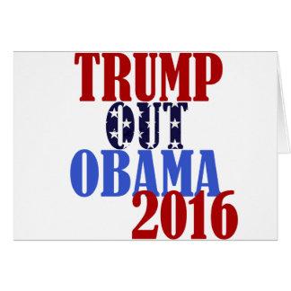 Trump Out Obama 2016 Card