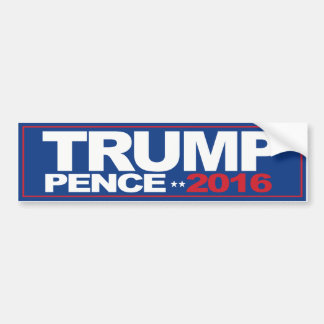 Trump Pence 2016 - Bumpersticker - -  Bumper Sticker