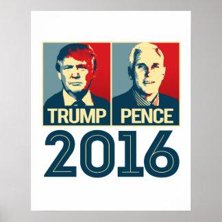Trump Pence 2016 Poster - -