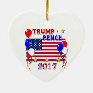 Trump Pence 2017 Inauguration Ceramic Ornament