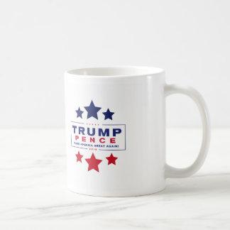 Trump-Pence Coffee Cup with Stars
